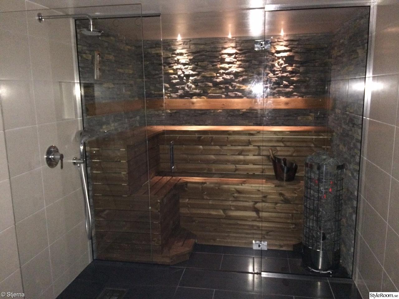 Bastu med inbyggda spotlight   badrummet 2011