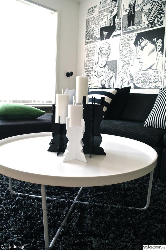 jtp-design,kuddar,ikea stockholm,soffa,lampa,tapet,svart,vitt