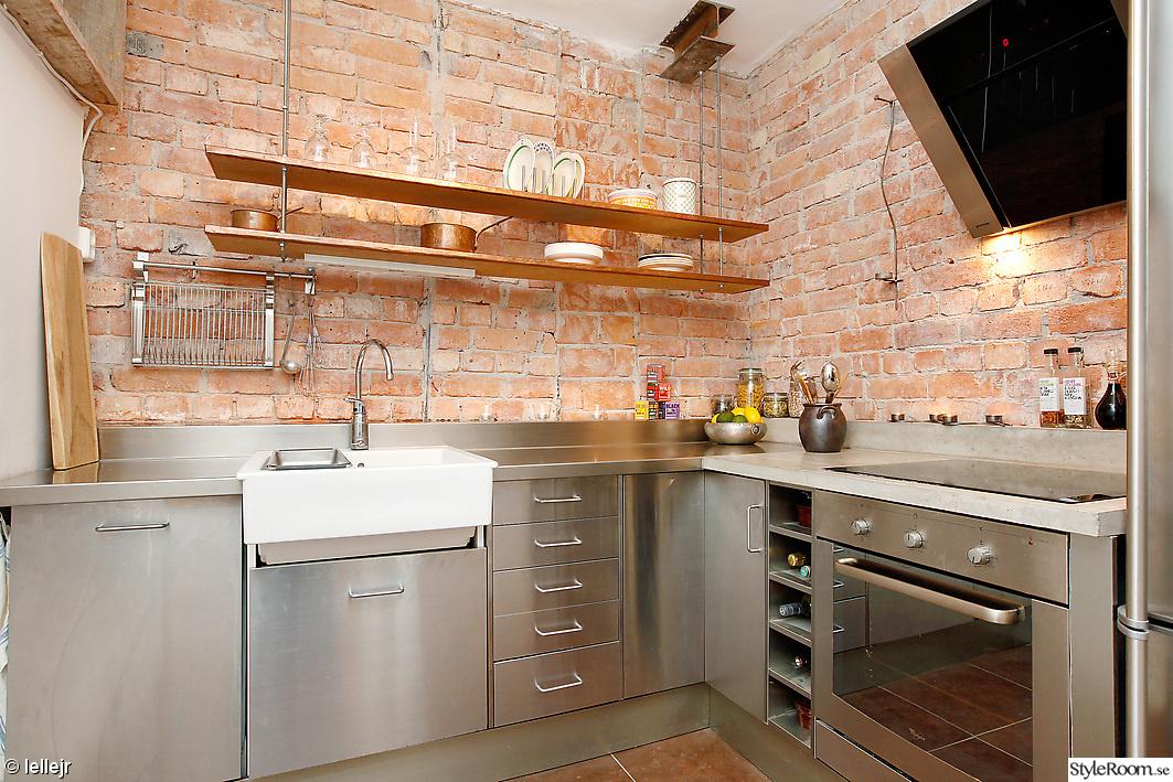 Industrilampor Kok : kok med tegelvogg  Kok Med Tegelvogg kok oh jag vill ha tegel