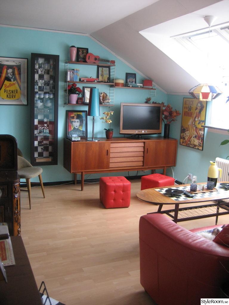 50-tal,retro,nostalgi,stringhylla,teak,tv,soffbord,sideboard,plastband ...