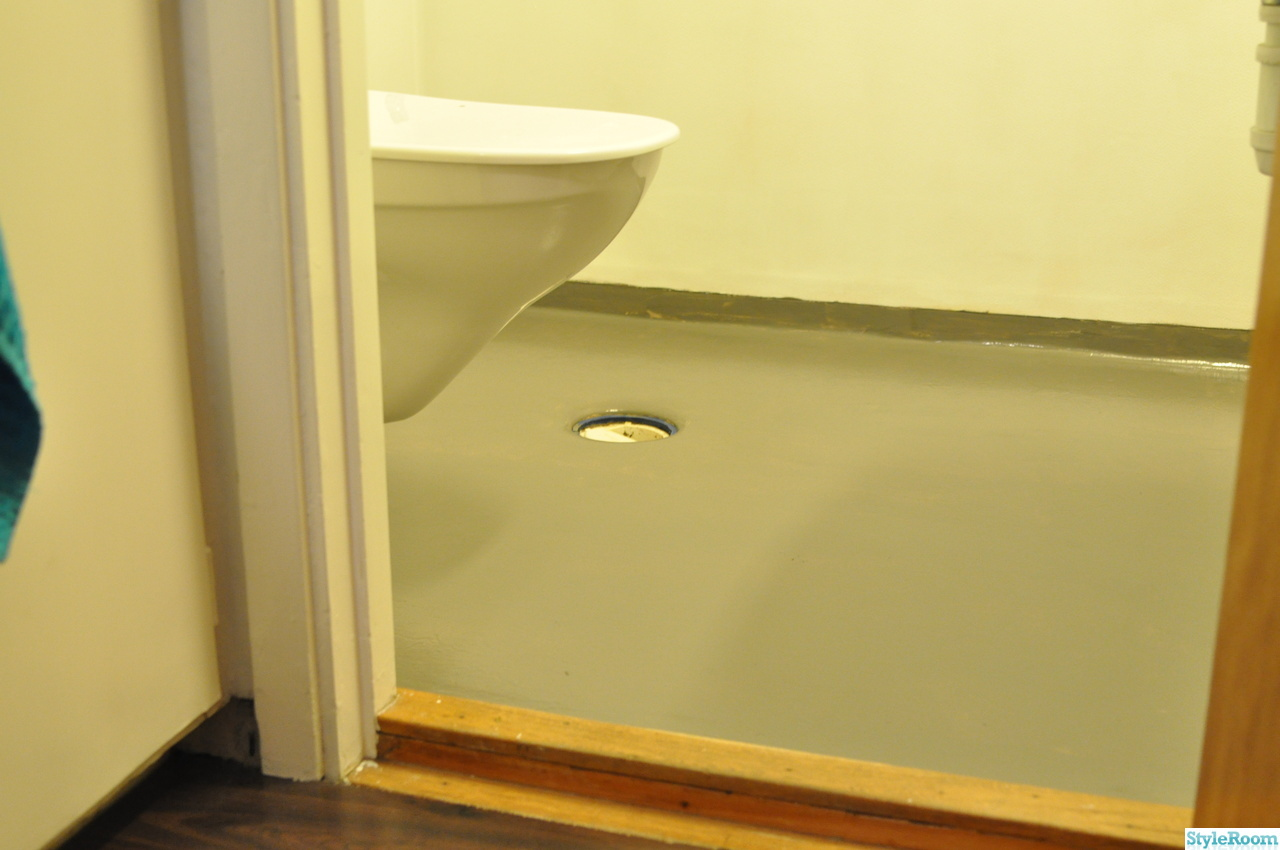 Inspirerande album på målat golv badrum