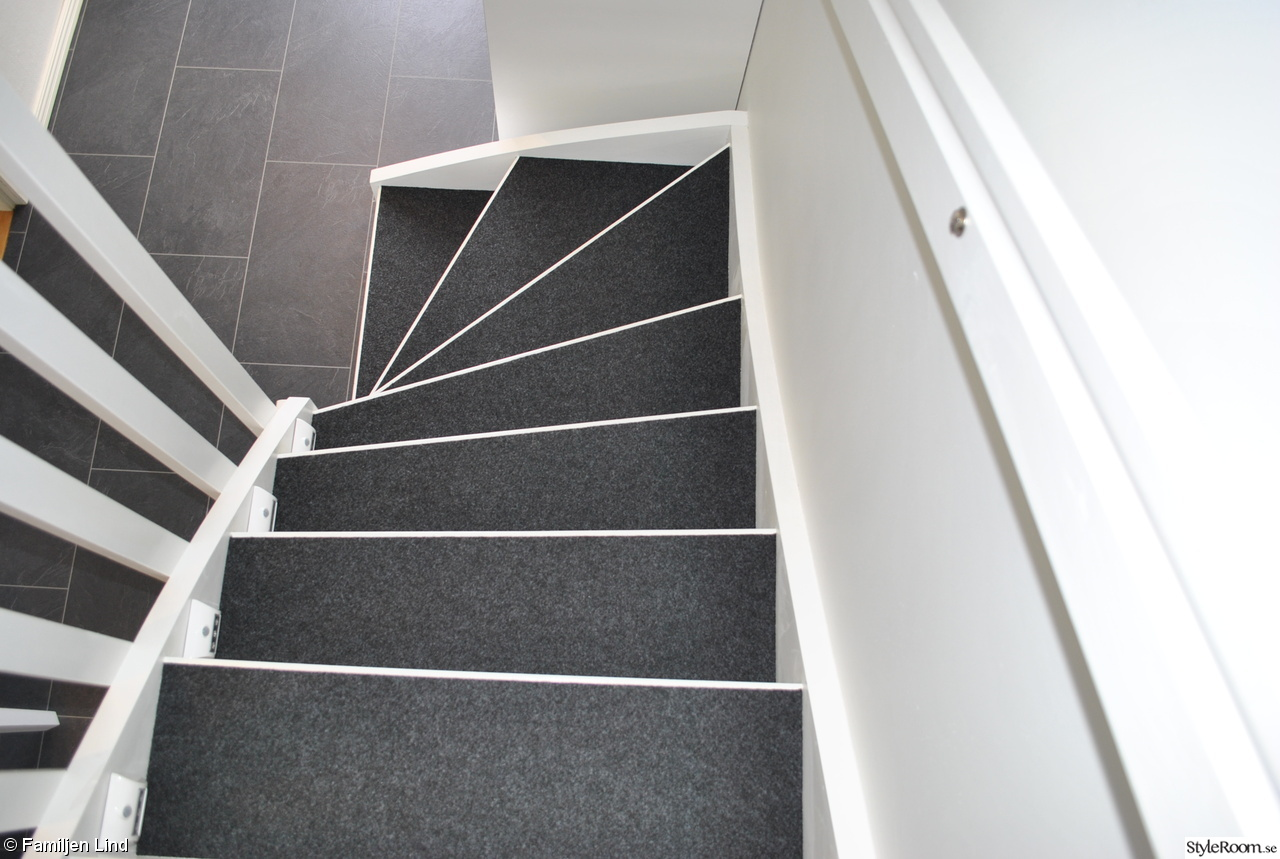 Bild på trappa efter - Renovering av vår trappa till övervåningen ...