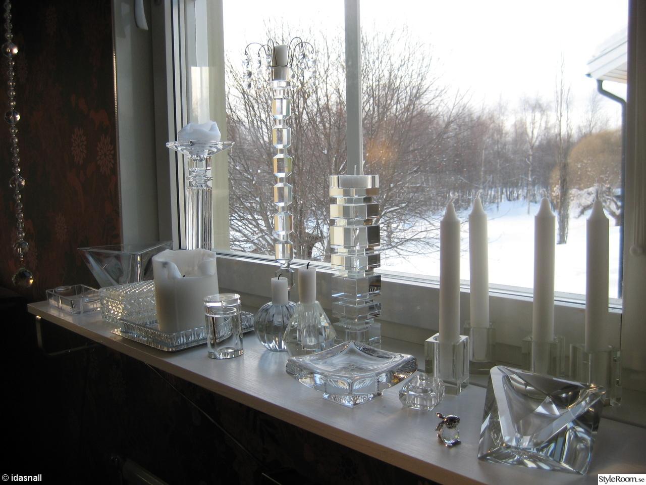 glas,ljusstake,askfat,glasburk