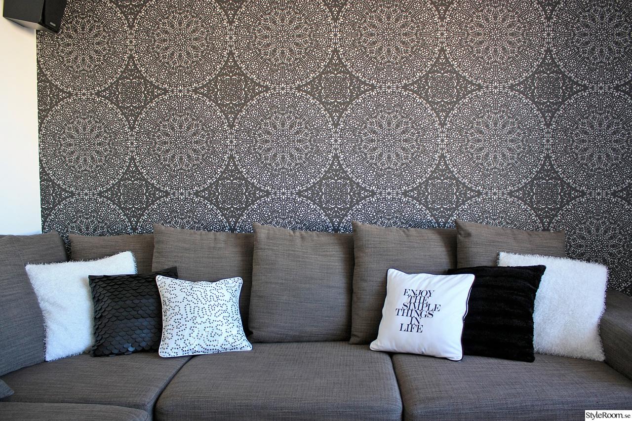 Bild på fondvägg svart tapet - Vardagsrum av Annse