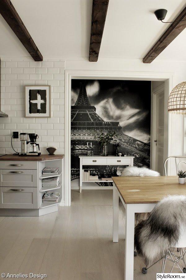 Renovering av liten hall mellan två rum, före och efter Ett inredningsalbum på StyleRoom av