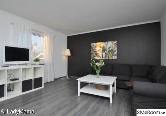 vardagsrum,vitt,grått,grå,vit,abugine,fondvägg,golv,måla om ...