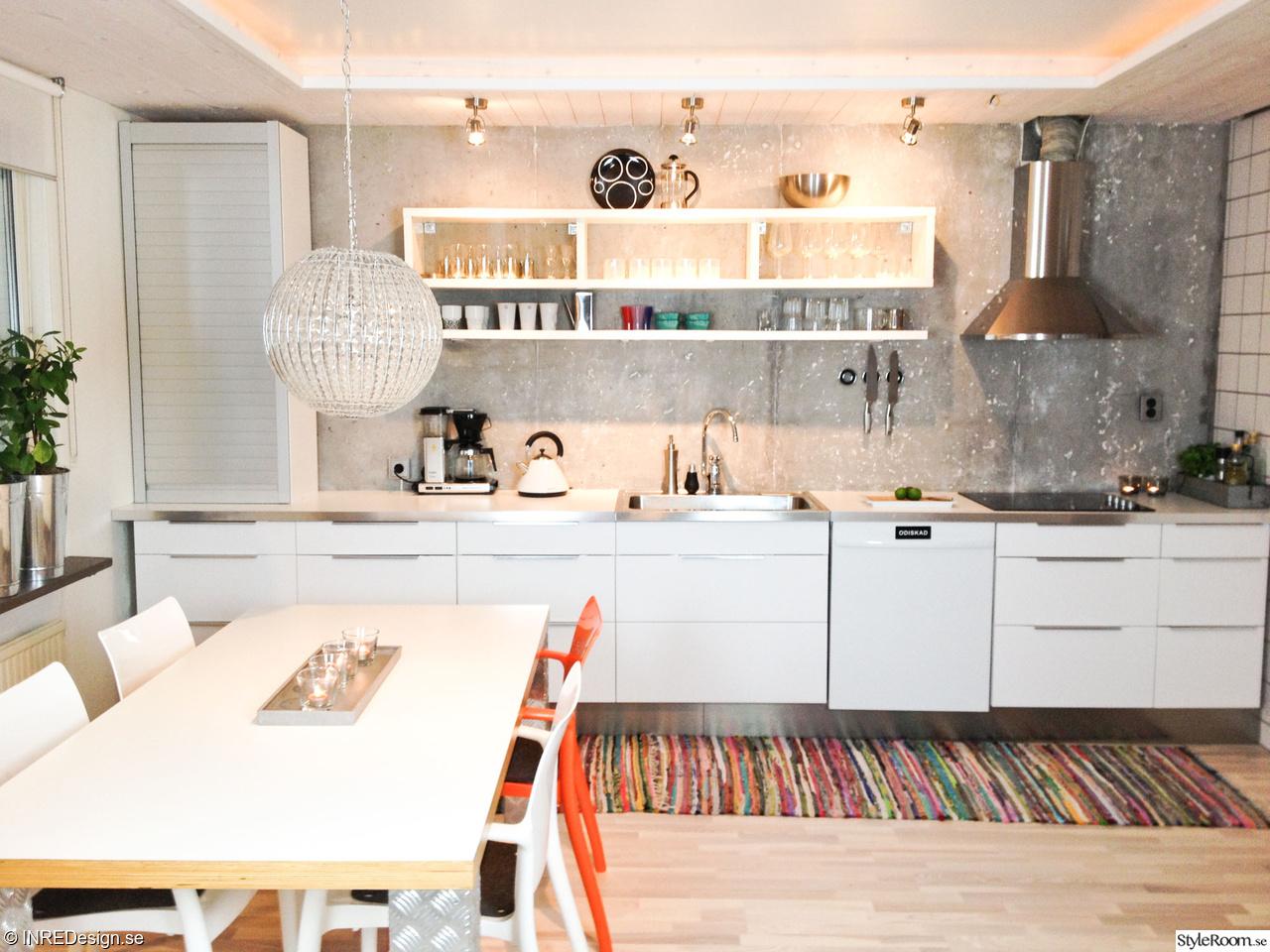 Betongvagg Kok : kok betongvogg  industriellt kok,industri,industriellt,ikea kok