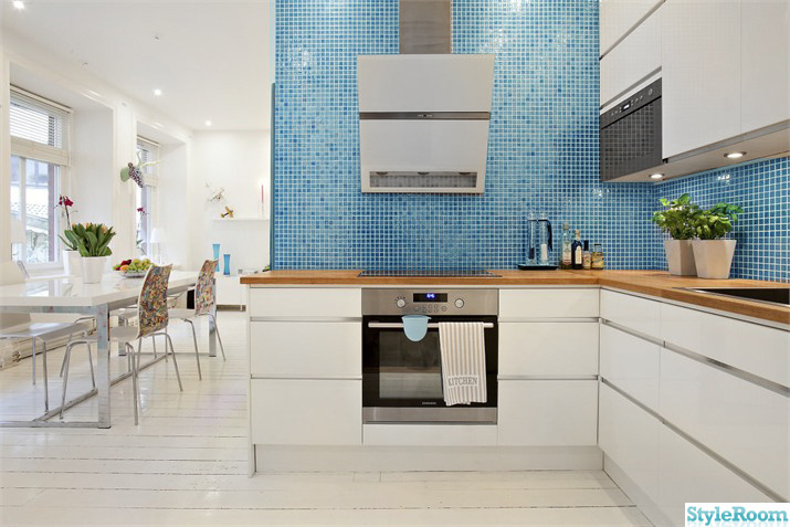 Mosaik Kok Kakel : mosaik kok inspiration  kok,kakel,turkost,vitt,spisflokt,ugn