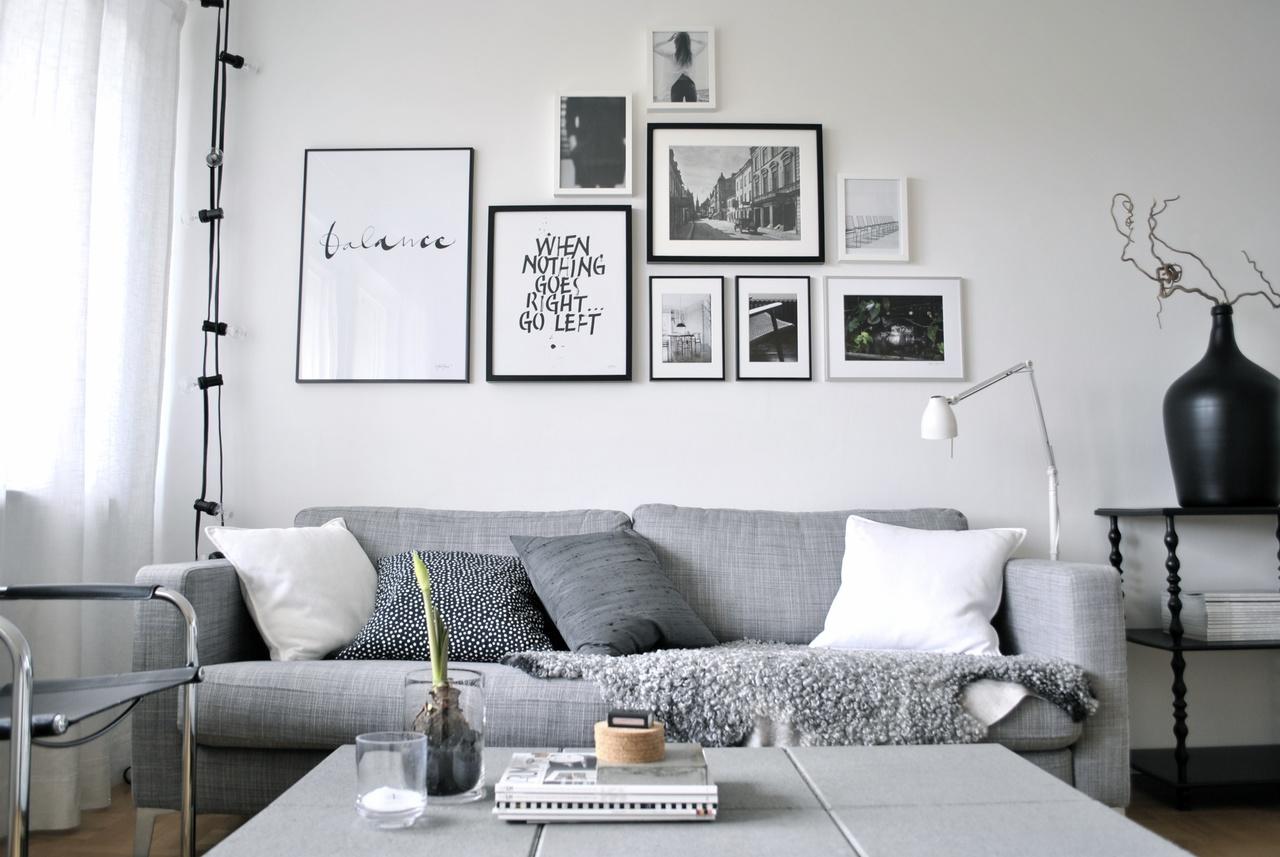 Grå soffa   inspiration och idéer till ditt hem