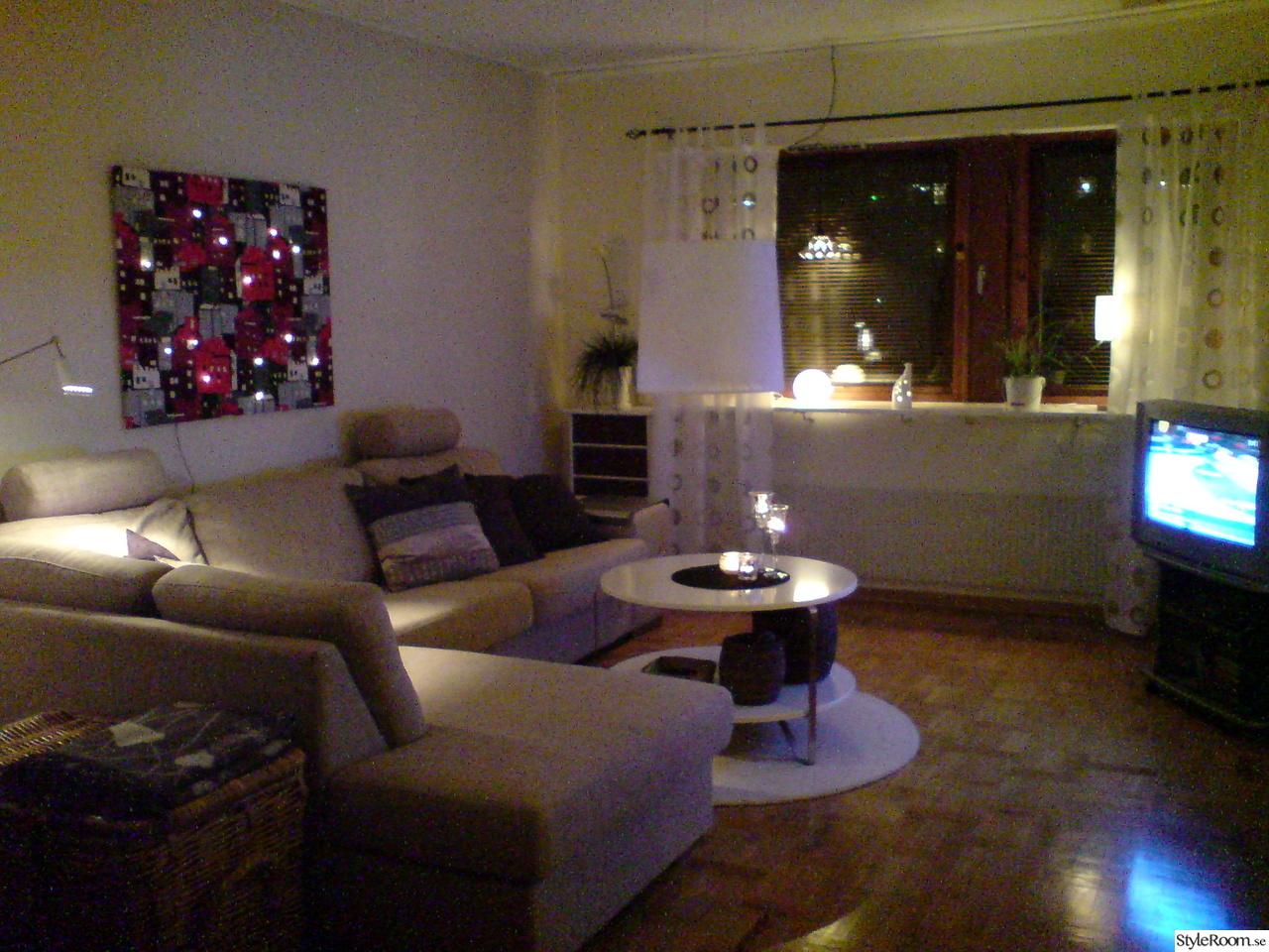 Mitt vardagsrum i beige och brunt   hemma hos rufsan 1