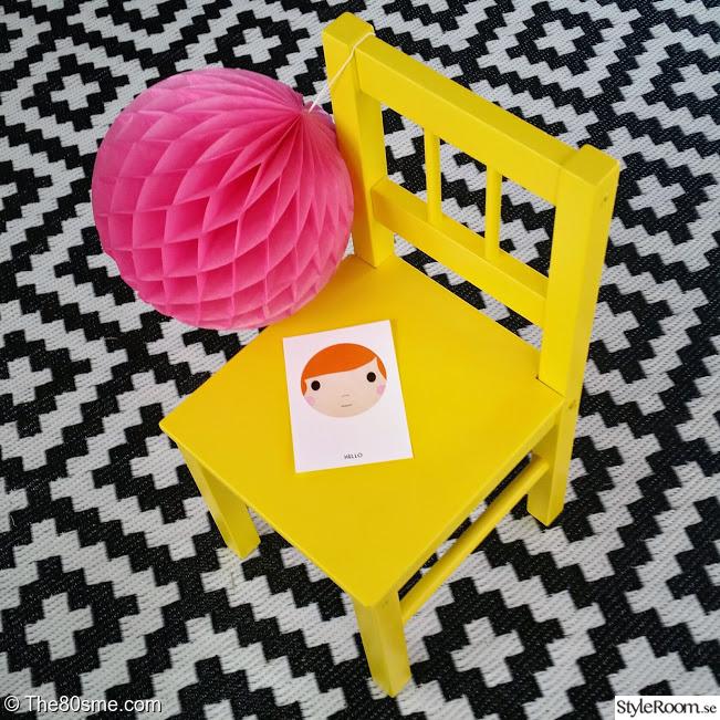 Grafiskt barnrum med färgklickar Ett inredningsalbum på StyleRoom av The80sme
