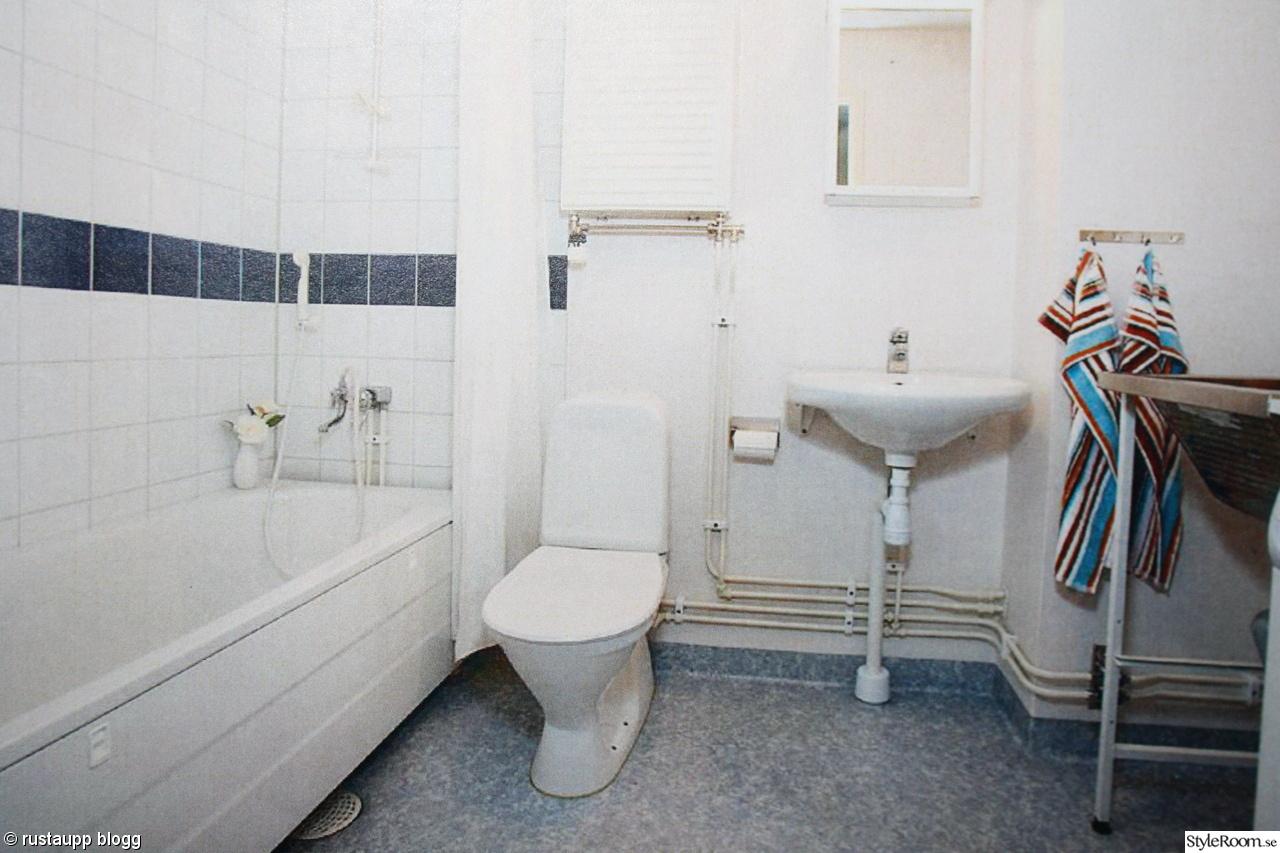 Bild på badrummet fÖre   budgetrenovering badrum av sannzen