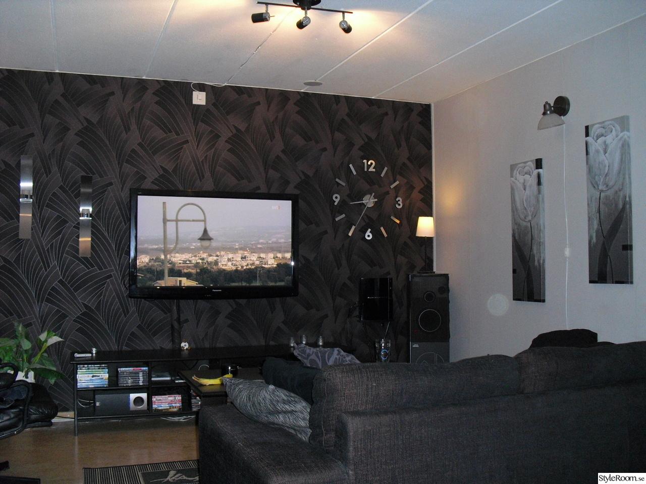 Fondvägg vardagsrum   inspiration och idéer till ditt hem