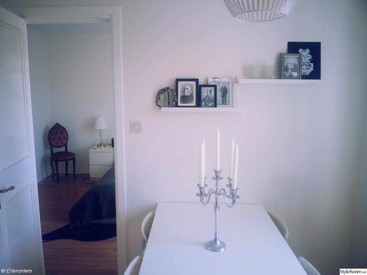 vita köksstolar : kök,köksbord,matplats,vitt,silver,kandelaber i ...