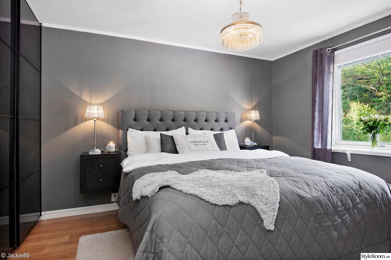 Bild på grått sovrum   grått i sovrummet av torpell