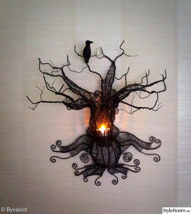 Träd som inredningsdetal i hemmet Hemma hos annevaivot