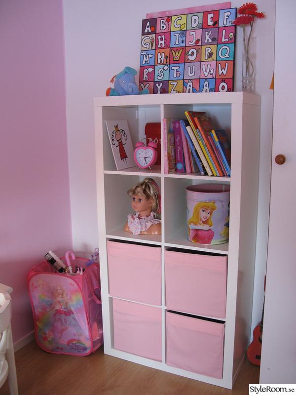 barnrum,rosa,förvaring,vitt