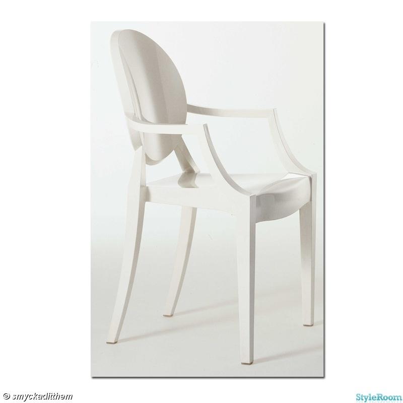 stol,kartell,kartell ghost,vit