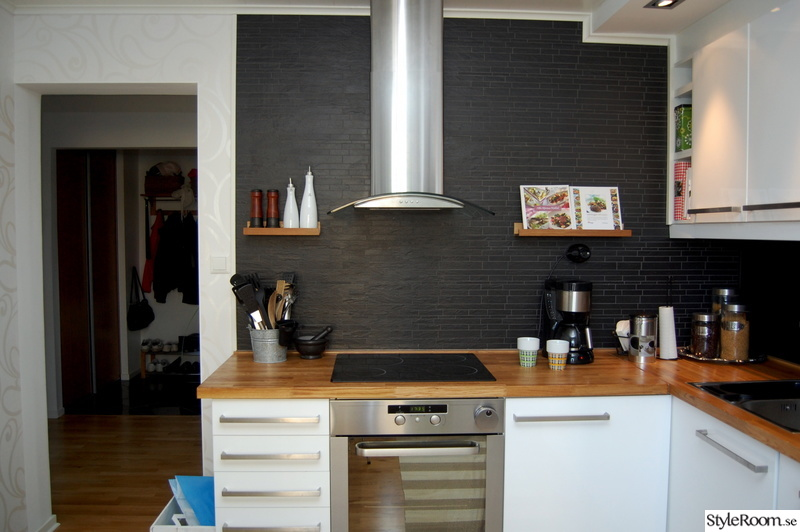 Dekorplast Kok Fore Efter : floktkopa,spisholl,stavmosaik,massiv ek,hogblanka vita luckor