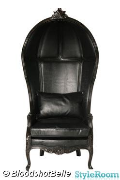 fåtölj,svarta stolar,goth,gothic,gothrock