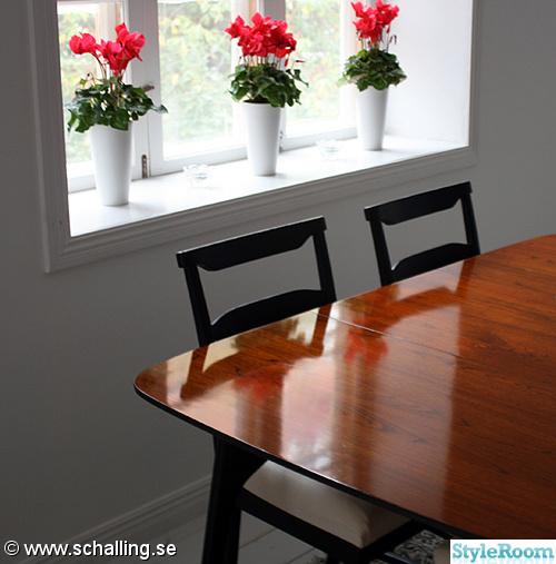 köksbord,blommor,matplats