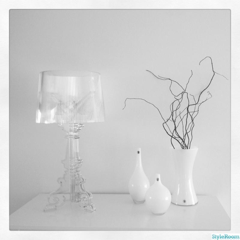 kartell,lampa,vas,dekoration,vitt