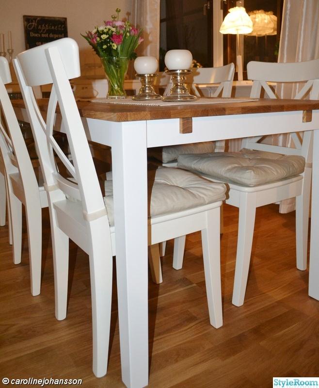 Kok Vitt Ek : kok vitt ek  vitt,ek,lantligt,stolar,matsalsbord