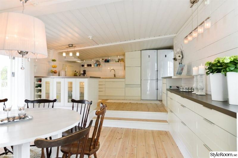 Planlosning Kok Vardagsrum : Lantligt kok med oppen planlosning  Kok