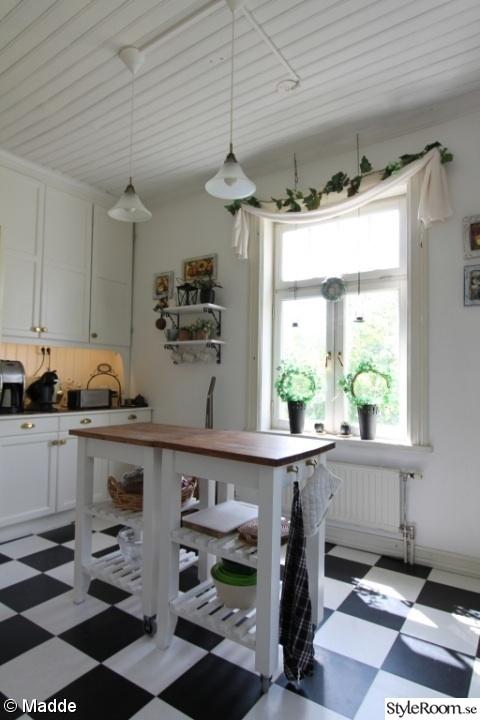 Rutigt Golv Koket : rutigt golv koket  Rutigt koksgolv i marmor Svart koksinredning
