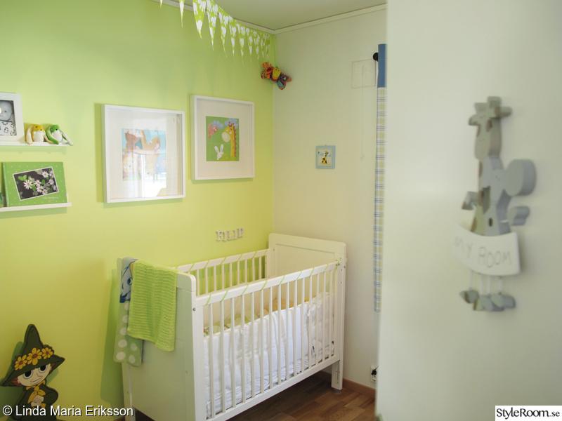barntavlor,my room-skylt,grönt,spälsäng,barnrum