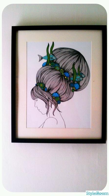 illustration,grönt,blått,vägg