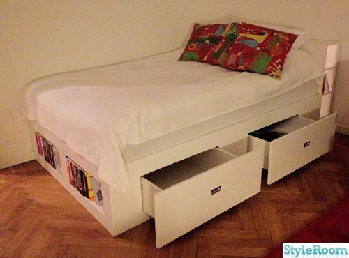 säng mio dream ~ säng med förvaringslådor  hemma hos hampasnoret