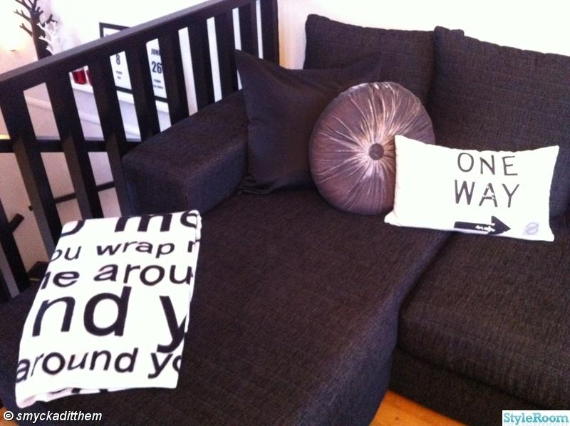 kuddar,House Doctor,svart,hm home,divan soffa