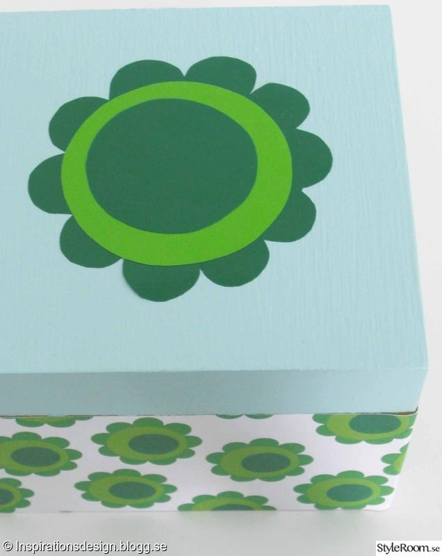 förvaring låda blommor presentpapper