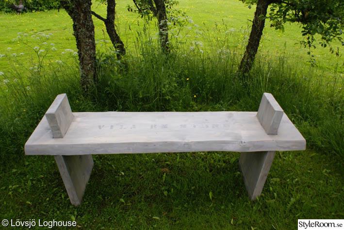 sittbänk,utemöbler,plank,grova plank,okantat