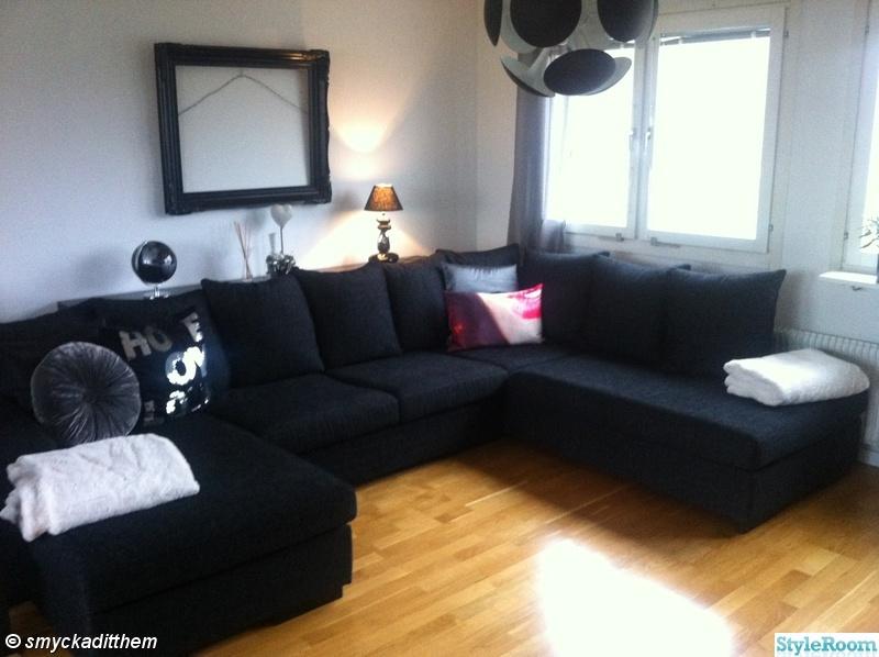 taklampa,divansoffa,vardagsrum,svart