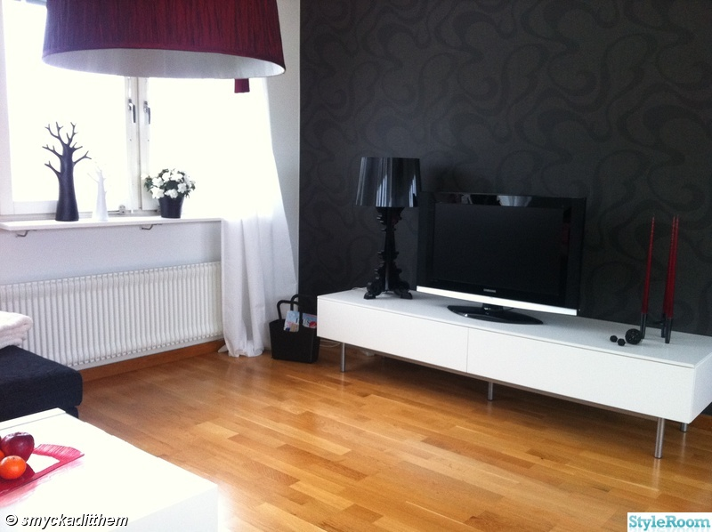 kartell,tv,tvbänk,tidningsförvaring,lampa