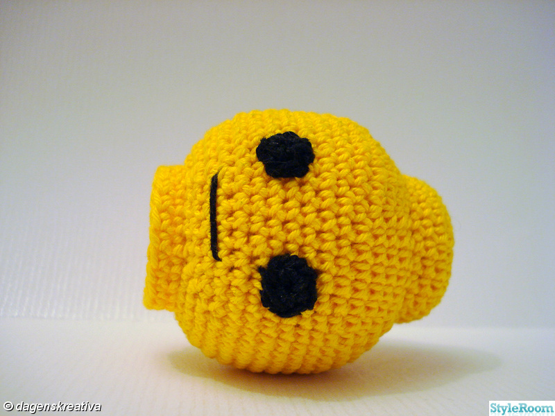 gul,svart,virka,dagenskreativa,legohuvud