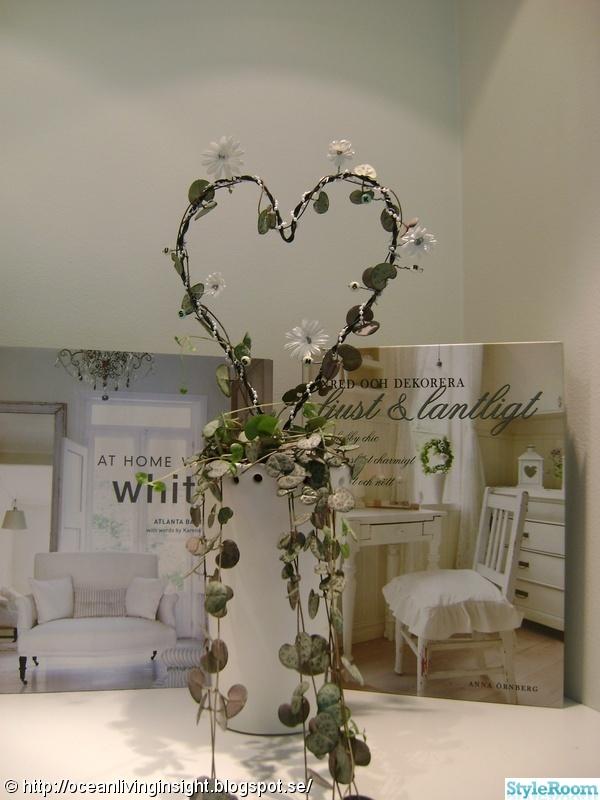 blommor,dekoration,hjärta på tråd