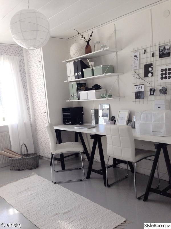 skrivbord kontor ~ kontor och syhörna  hemma hos elnskg