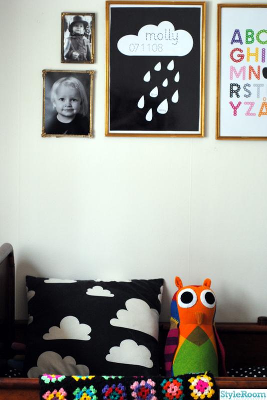 moln,poster,mormorsfilt,retro abctavla