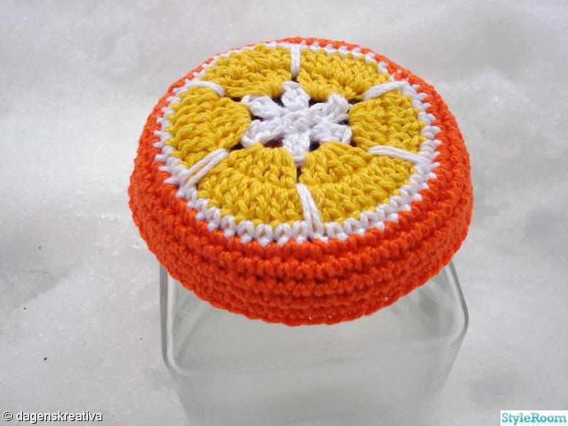 orange,gul,apelsin,dagenskreativa,virkat burklock