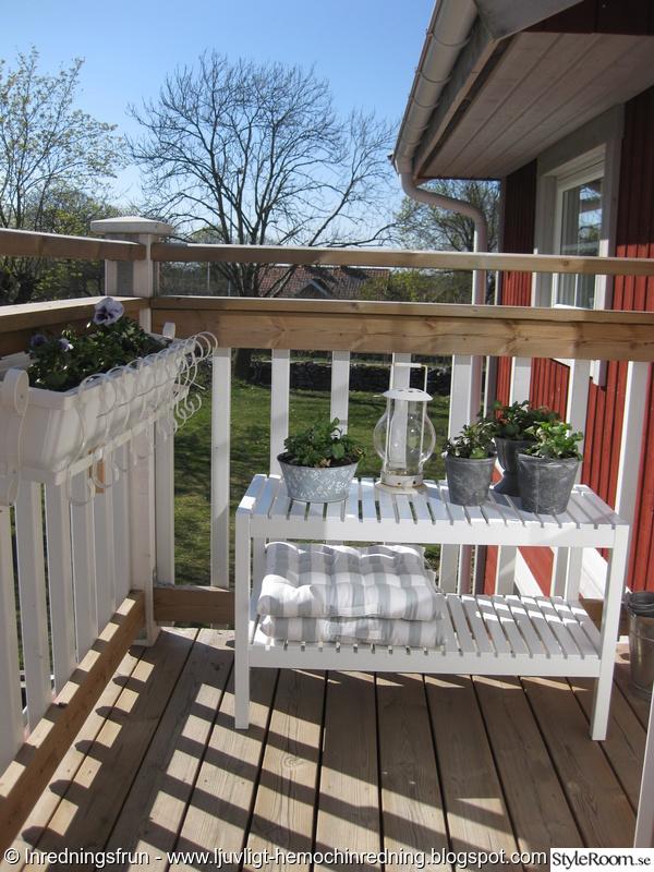 balkong,blommor,trädgård,bänk,sommar