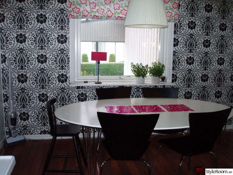 ... kök : Bilder, Kök matplats, Fondvägg, Tapet, Färgstarkt Hemnet