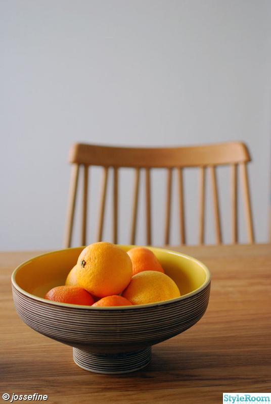 skål,keramik,stålhane,vintage,apelsiner