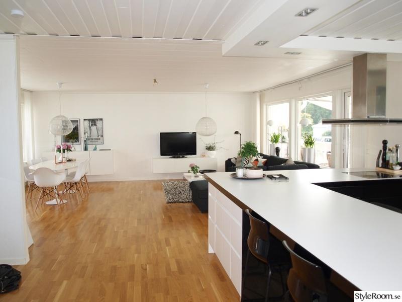 Kok Vardagsrum oppen Planlosning : oppen planlosning,kok,vardagsrum,matplats,svartvitt