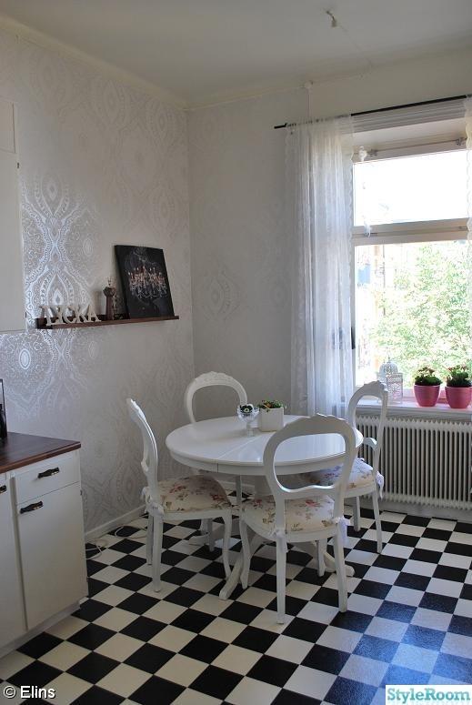 köksbord,romantiskt,vitt,kök,gustaviansk