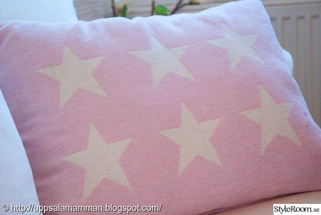 rosa stjärnkudde,stjärnkudde,rosa,stjärnor,barnkammare