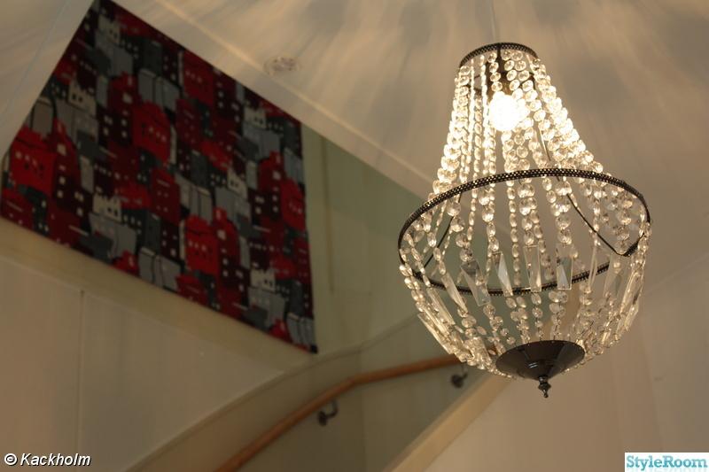 Kuva kristallkrona - Hallar och trappuppgång - Kackholm : kristallkrona hall : Inredning