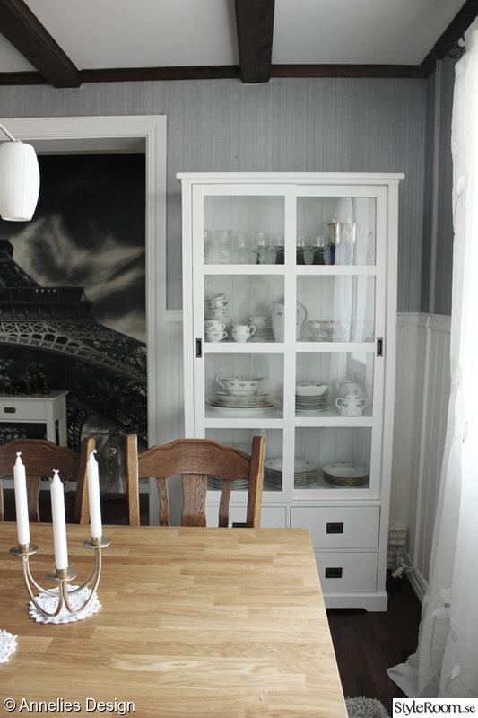 Bild på matsalsbord Matsal före och efter renovering av Svartvittochrott